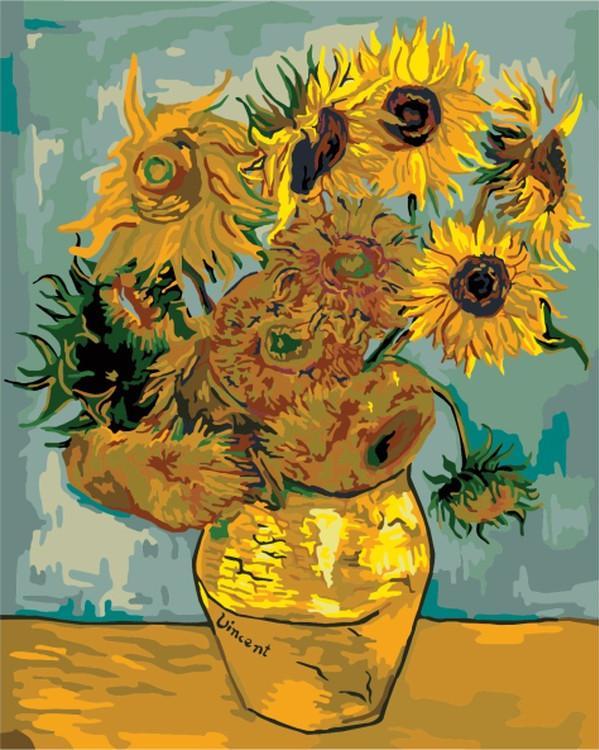 Картина по номерам «Подсолнухи» Ван ГогаMolly<br><br><br>Артикул: G234_M<br>Основа: Холст<br>Сложность: средние<br>Размер: 40x50 см<br>Количество цветов: 24<br>Техника рисования: Без смешивания красок