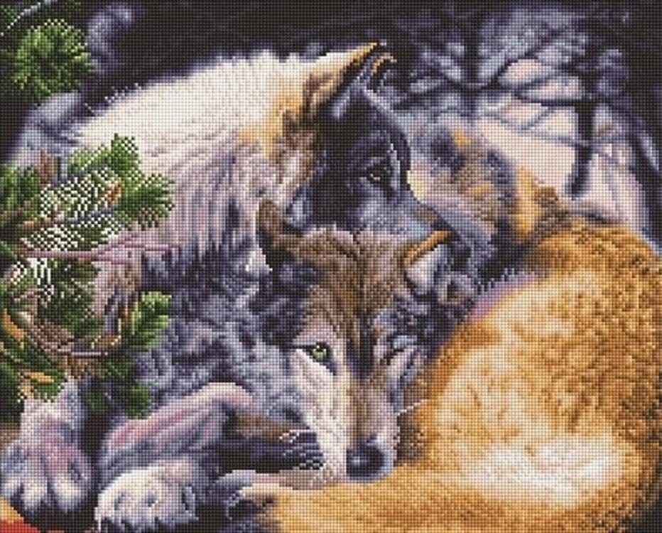 Алмазная вышивка «Волчья пара»Алмазная вышивка<br><br>