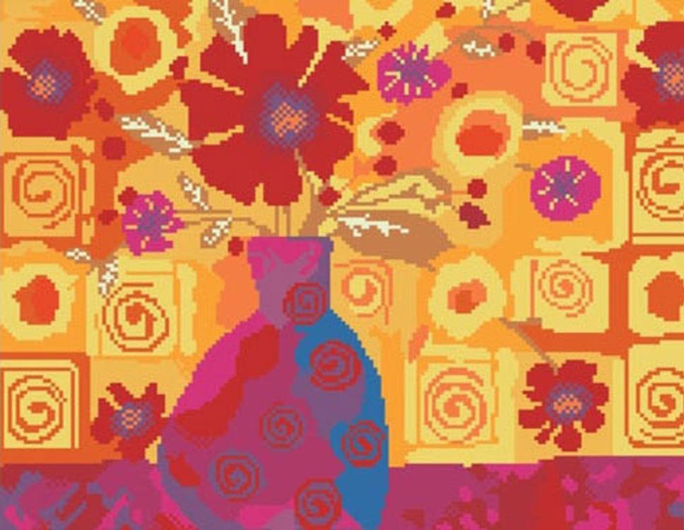 Алмазная вышивка «Оранжевая композиция»Molly<br><br><br>Артикул: GL068<br>Основа: Холст на подрамнике<br>Сложность: сложные<br>Размер: 40x50 см<br>Выкладка: Полная<br>Количество цветов: 15<br>Тип страз: Круглые прозрачные (стеклянные)