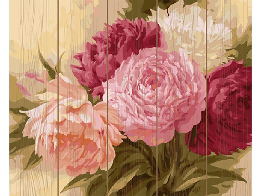 Картина по номерам по дереву Molly «Оттенки розового» Игоря ЛевашоваКартины по номерам по дереву<br><br>