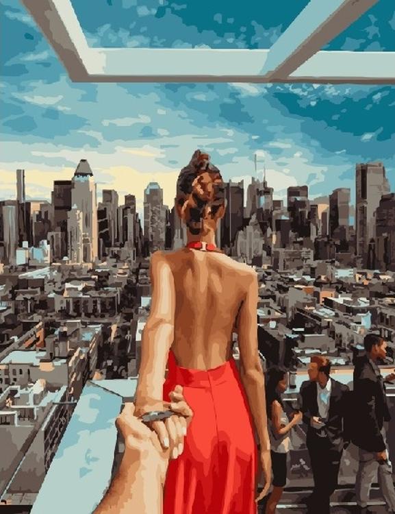 Картина по номерам «Следуй за мной. Нью-Йорк»Раскраски по номерам<br><br>