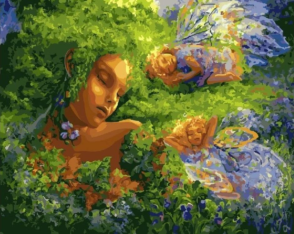 Картина по номерам «Зеленый сон»Paintboy (Premium)<br><br>