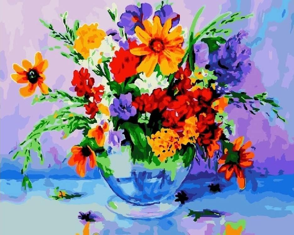 Картина по номерам «Яркий букет»Paintboy (Premium)<br><br><br>Артикул: GX22534<br>Основа: Холст<br>Сложность: сложные<br>Размер: 40x50 см<br>Количество цветов: 28<br>Техника рисования: Без смешивания красок