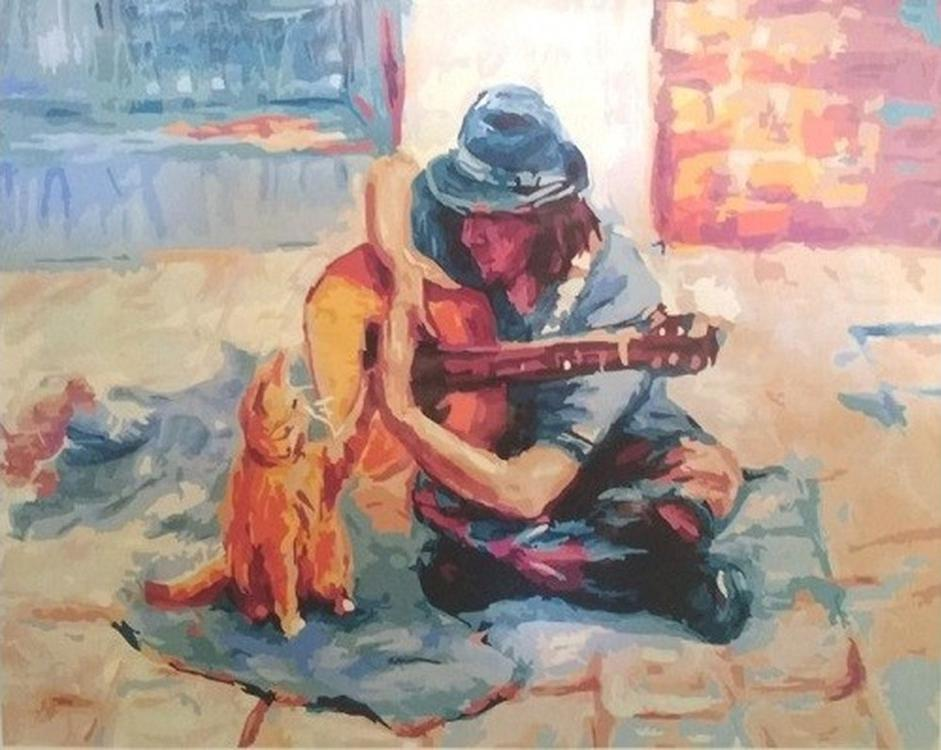 Картина по номерам «Музыка улиц»Paintboy (Premium)<br><br><br>Артикул: GX22665<br>Основа: Холст<br>Сложность: сложные<br>Размер: 40x50 см<br>Количество цветов: 27<br>Техника рисования: Без смешивания красок