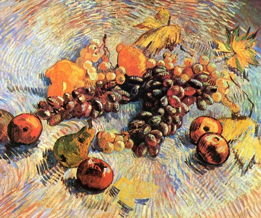 Картина по номерам «Натюрморт с яблоками и виноградом» Ван ГогаРаскраски по номерам<br><br>