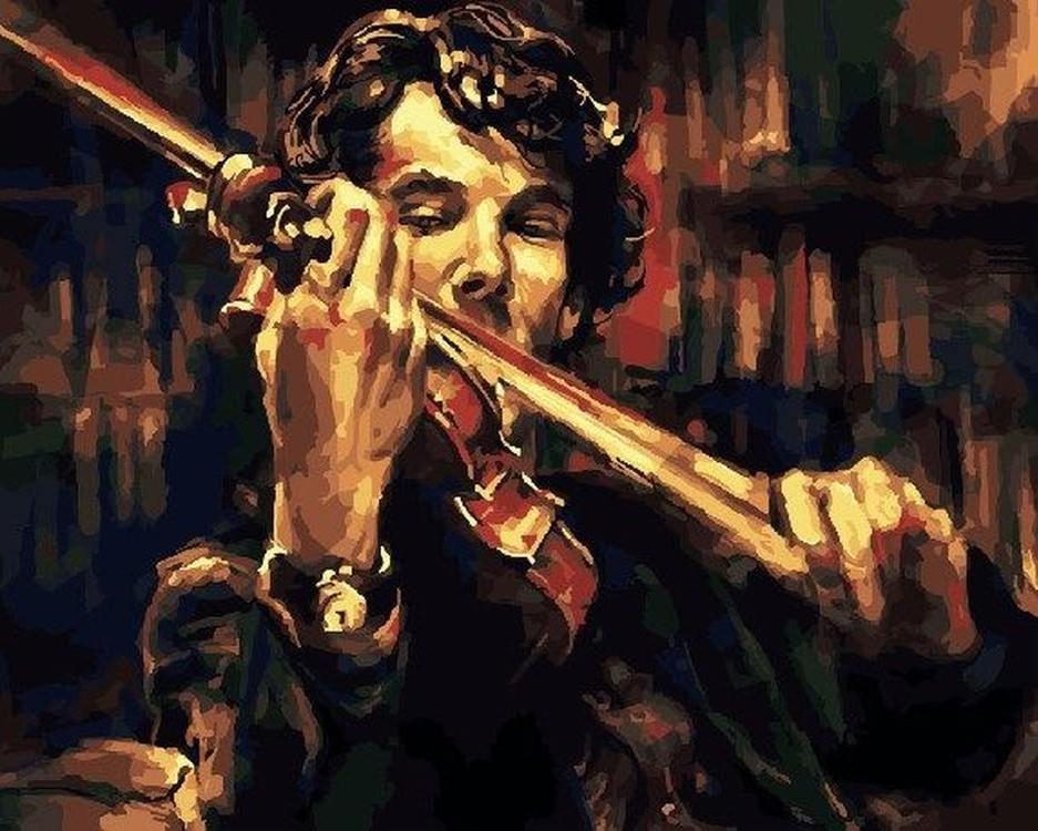 Картина по номерам Картина по номерам «Скрипка Шерлока Холмса» Paintboy (Premium)