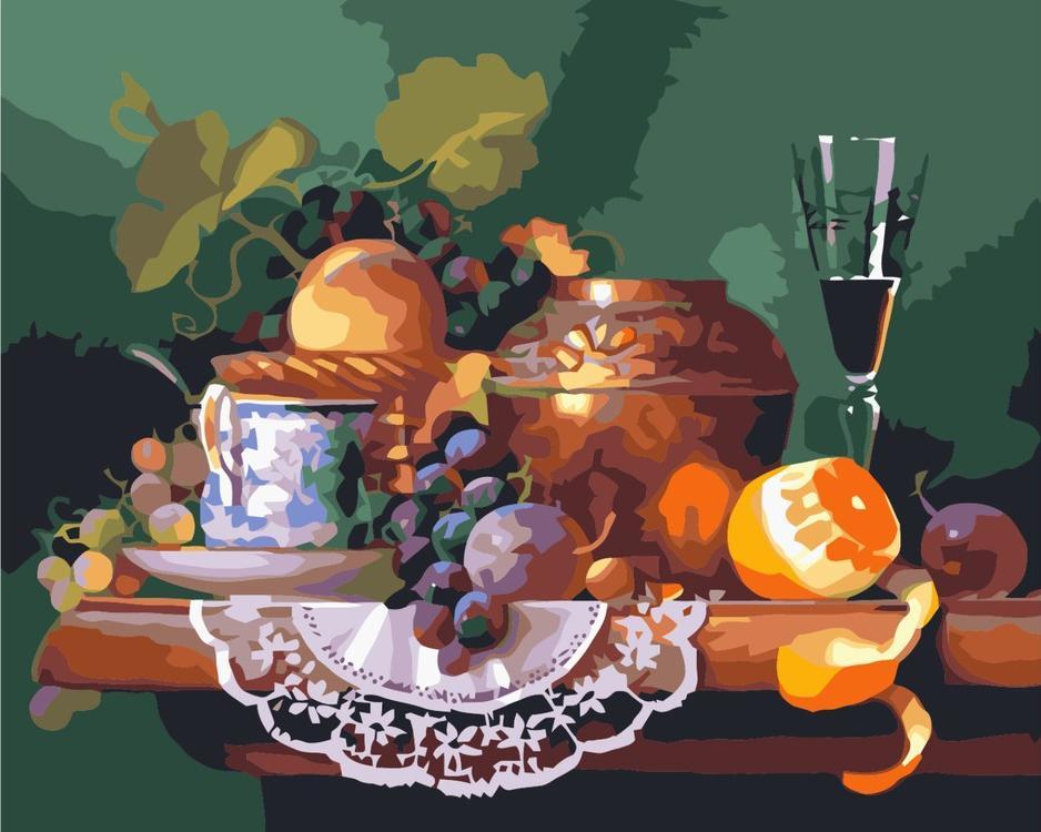 Картина по номерам «Завтрак поэта»Molly<br><br><br>Артикул: GX6130_M<br>Основа: Холст<br>Сложность: средние<br>Размер: 40x50 см<br>Количество цветов: 24<br>Техника рисования: Без смешивания красок