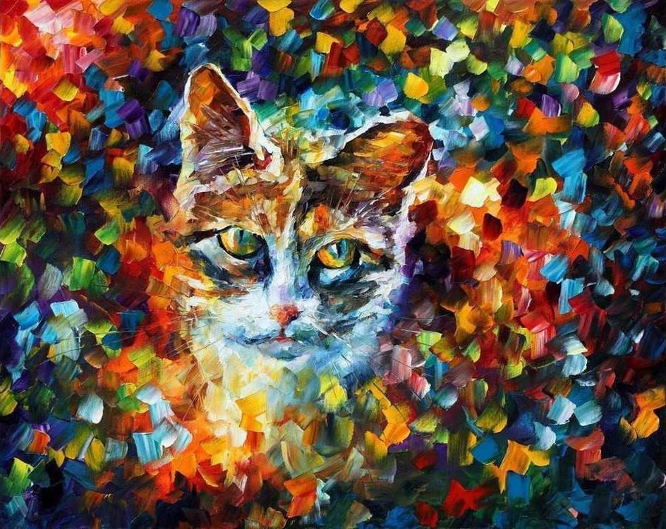 Картина по номерам «Мяу» Леонида АфремоваMolly<br><br><br>Артикул: GX9033_M<br>Основа: Холст<br>Сложность: очень сложные<br>Размер: 40x50 см<br>Количество цветов: 24<br>Техника рисования: Без смешивания красок