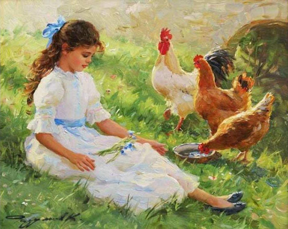 Картина по номерам «В деревне» Константина РазумоваРаскраски по номерам<br><br>