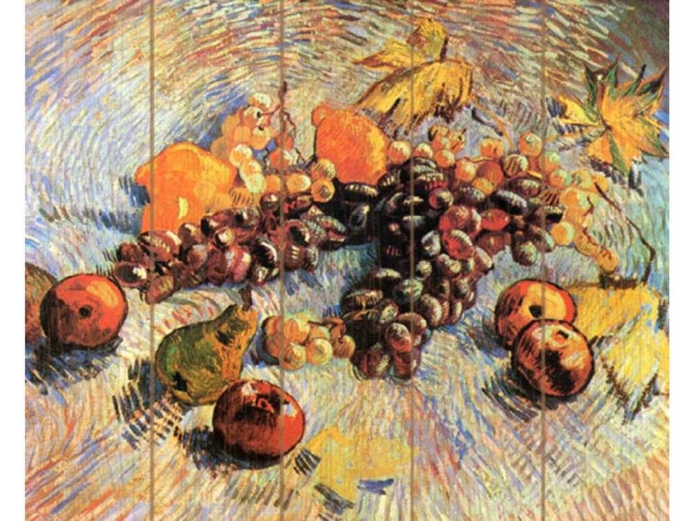Картина по номерам по дереву Molly «Натюрморт с яблоками и виноградом» Ван Гога