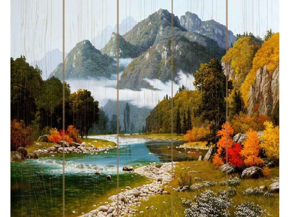 Картина по номерам по дереву Molly «Разноцветие осени» Сунг Ли