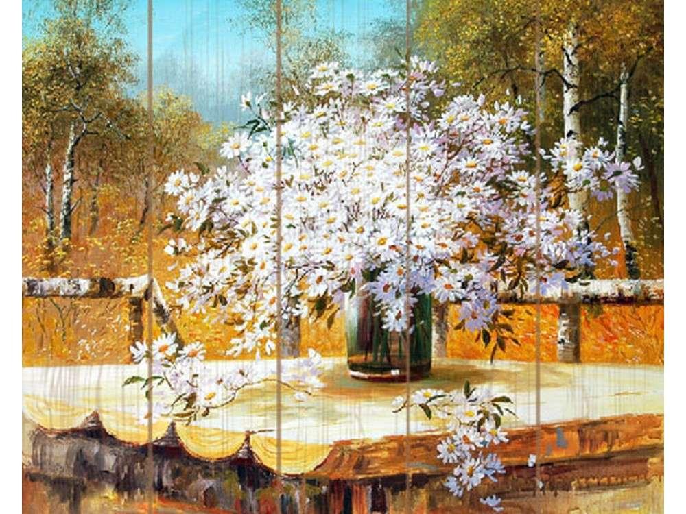 Купить Картина по номерам по дереву Paintboy «Букет полевых ромашек» Сунг Ли, Paintboy (Premium)