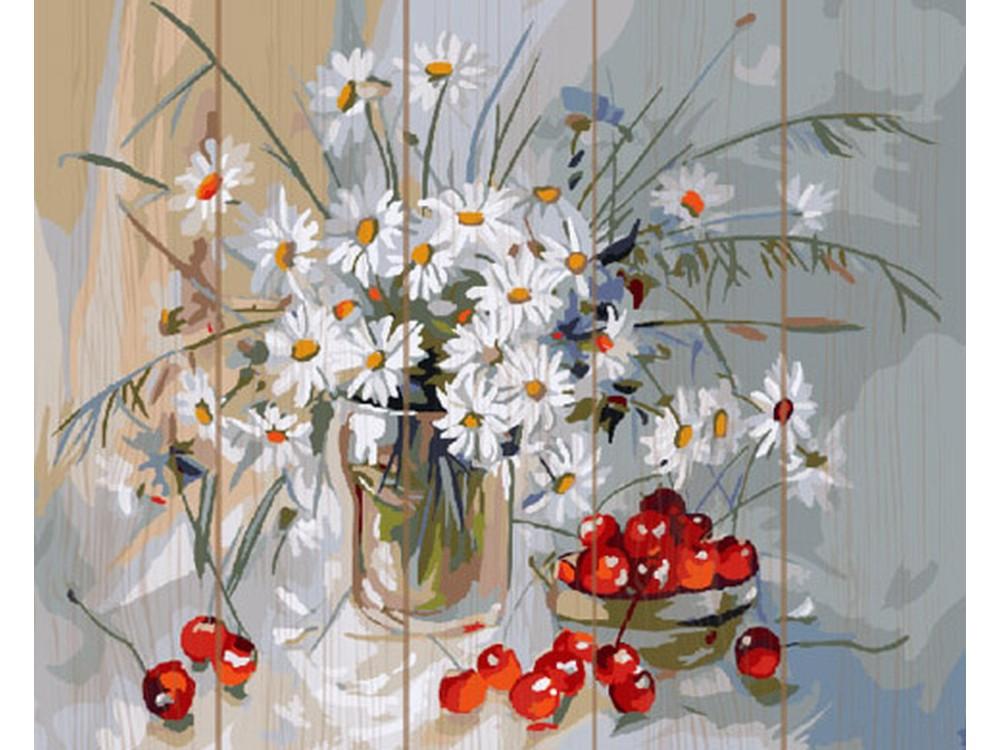 Купить Картина по номерам по дереву Paintboy «Букет ромашек», Paintboy (Premium)