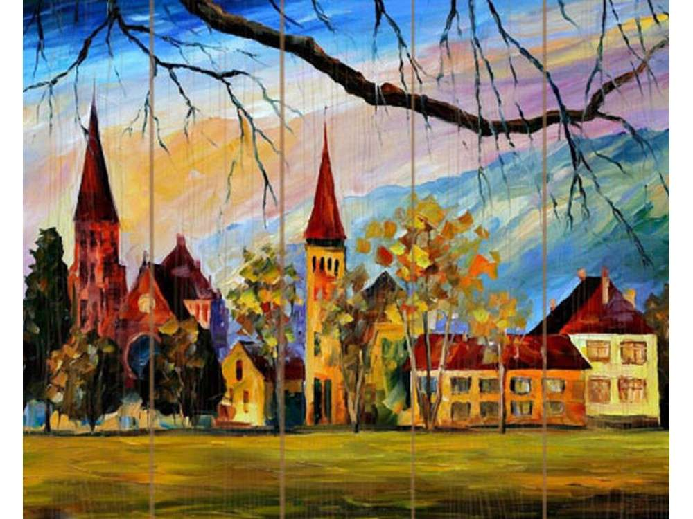 Картина по номерам по дереву Molly «Швейцария» Леонида АфремоваКартины по номерам по дереву<br><br>