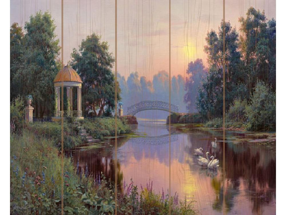 Картина по номерам по дереву Molly «Утренний парк» Игоря ПрищепыКартины по номерам по дереву<br><br>