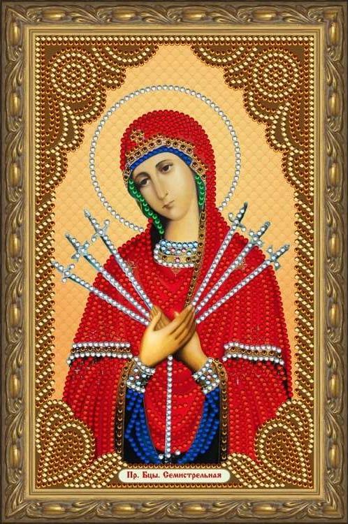 Алмазная вышивка «Пресвятая Богородица Семистрельная»