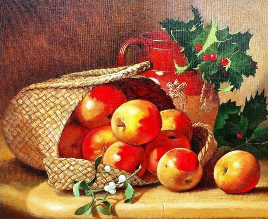 Алмазная вышивка «Лукошко с яблоками» Элоизы СтэннардАлмазная вышивка<br><br>