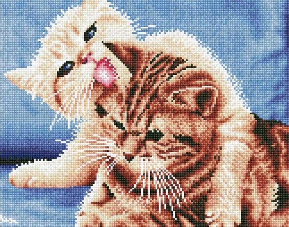 Алмазная вышивка «Котята»Цветной<br>Обновленная серия алмазной мозаики от бренда Цветной - это яркие популярные сюжеты и расширенная комплектация качественными составляющими. <br><br><br>Особенности алмазной вышивки от Цветной:<br><br>тканевый холст имеет ярко выраженную приятную на ощупь бархатисту...<br><br>Артикул: LG032<br>Основа: Холст на подрамнике<br>Сложность: сложные<br>Размер: 40x50 см<br>Выкладка: Полная<br>Количество цветов: 22<br>Тип страз: Круглые непрозрачные (акриловые)