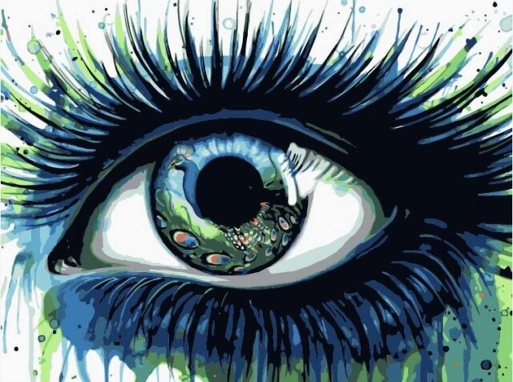 Картина по номерам «Павлиний глаз»Цветной (Premium)<br><br><br>Артикул: ME1093_Z<br>Основа: Холст<br>Сложность: средние<br>Размер: 30x40 см<br>Количество цветов: 15<br>Техника рисования: Без смешивания красок
