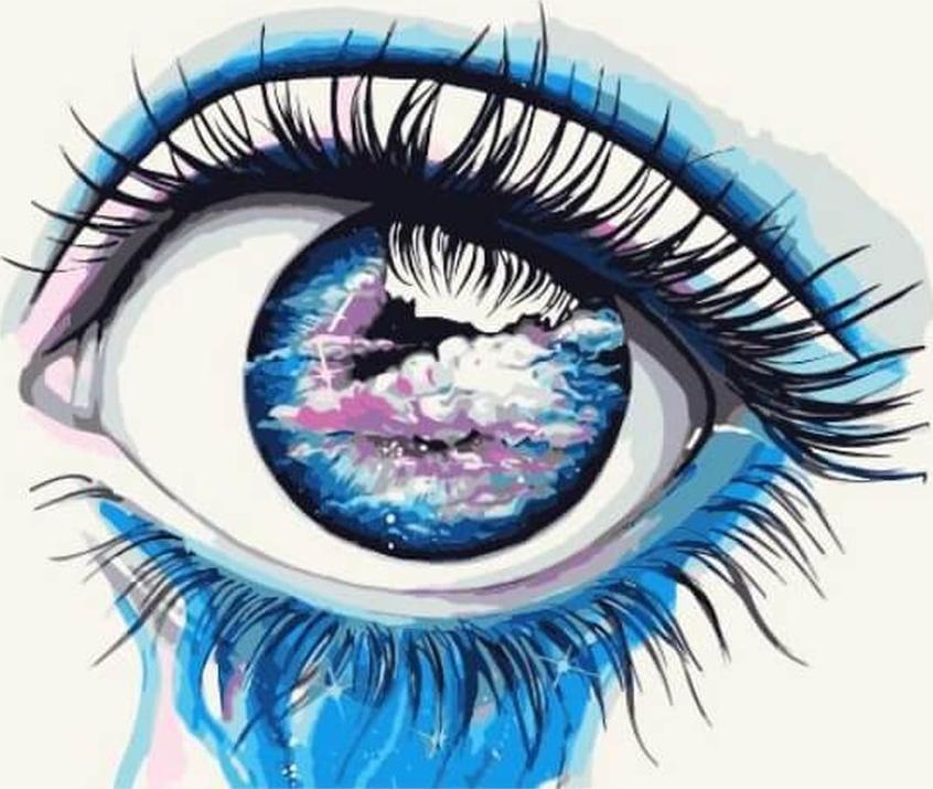 Картина по номерам «Небесный взгляд»Цветной (Premium)<br><br>