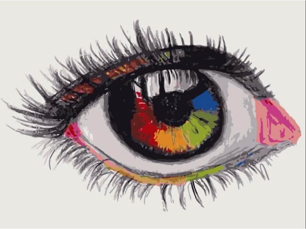 Картина по номерам «Мир своими глазами»Цветной (Premium)<br><br><br>Артикул: ME1095_Z<br>Основа: Холст<br>Сложность: средние<br>Размер: 30x40 см<br>Количество цветов: 18<br>Техника рисования: Без смешивания красок