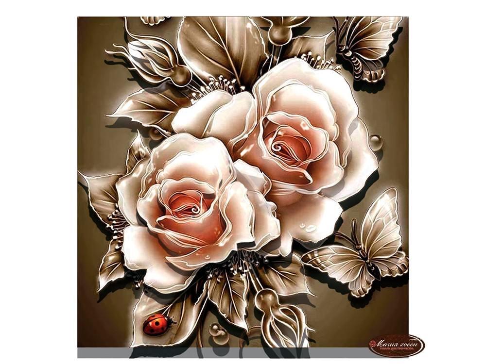 Папертоль «Карамельные розы»