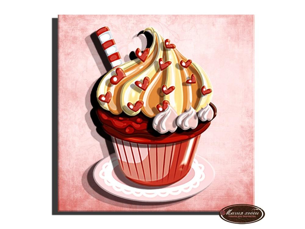 Папертоль «Кекс с сердечками»