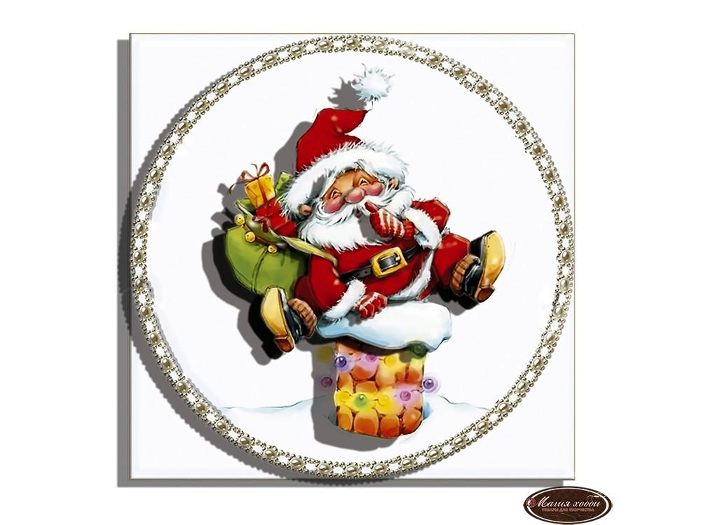 Папертоль «Дед Мороз на трубе»