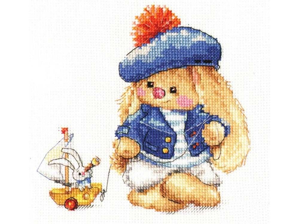 Набор для вышивания «Зайка Ми. Моряк»Вышивка крестом Алиса<br><br><br>Артикул: 0-180<br>Основа: канва Aida 14 100% хлопок Gamma<br>Размер: 13x13 см<br>Тип схемы вышивки: Цветная схема<br>Цвет канвы: Белый<br>Количество цветов: 23<br>Рисунок на канве: не нанесён<br>Техника: Вышивка крестом<br>Нитки: мулине 100% хлопок Gamma