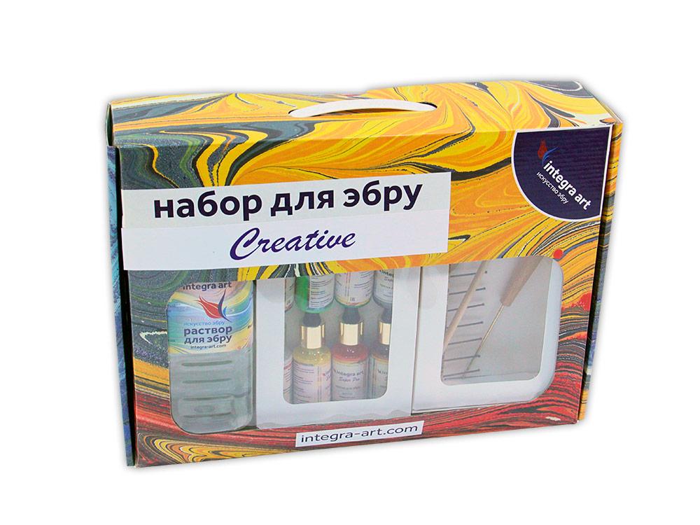 Набор для эбру «Creative» 8 цветов+ 25 г загустителя в подарок, Integra Art