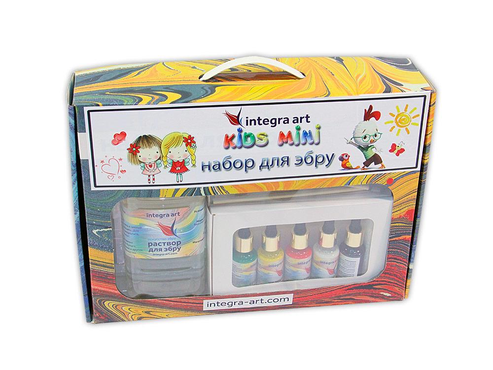 Набор для эбру «Kids Mini» 5 цветов, Integra Art + 25 г загустителя в подарок
