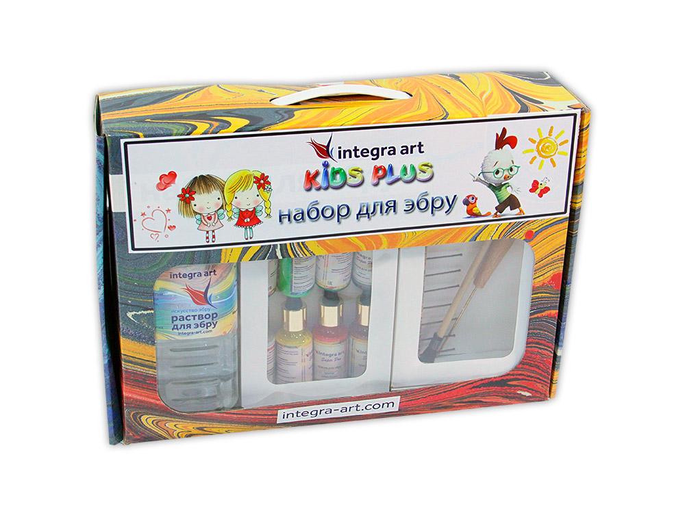 Набор для эбру «Kids Plus» 6 цветов+25 г загустителя в подарок, Integra Art