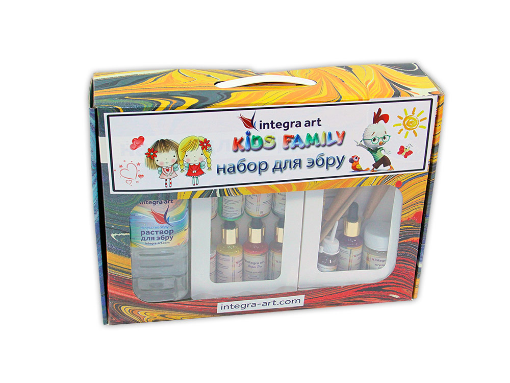 Набор для эбру «Kids Family» 9 цветов, Integra Art