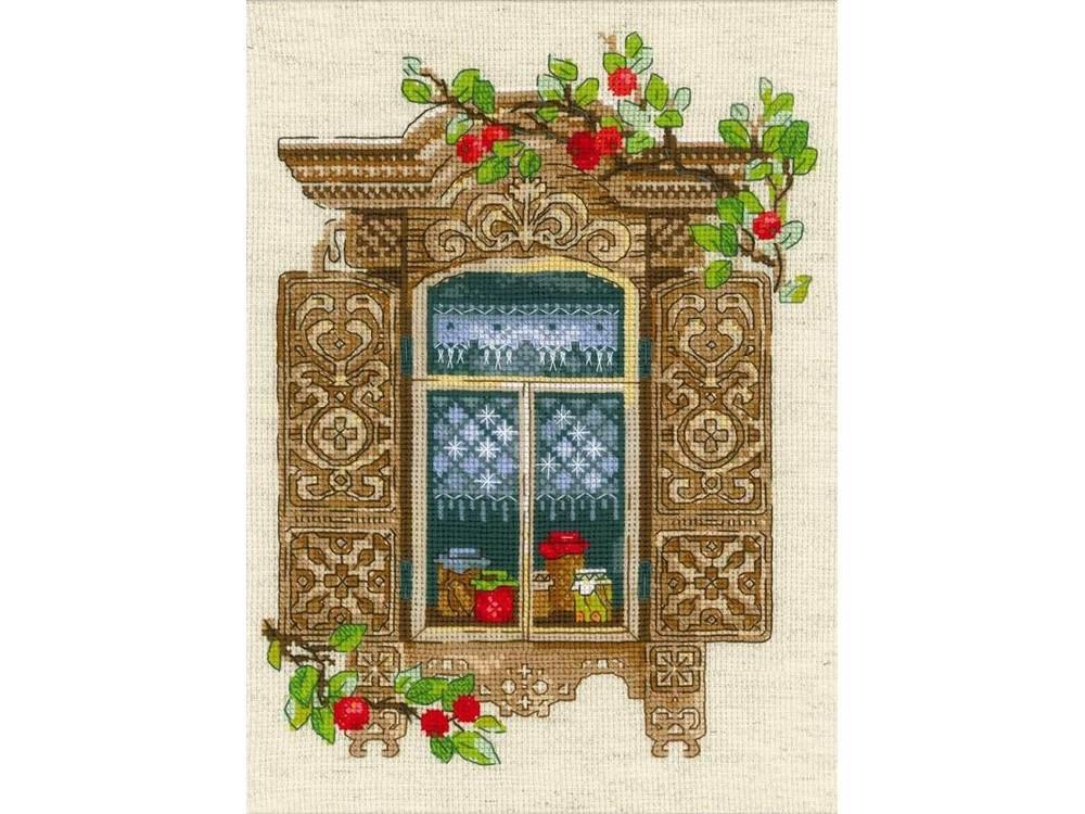 Набор для вышивания «Окошко в Малиновку»Вышивка крестом Риолис<br><br>