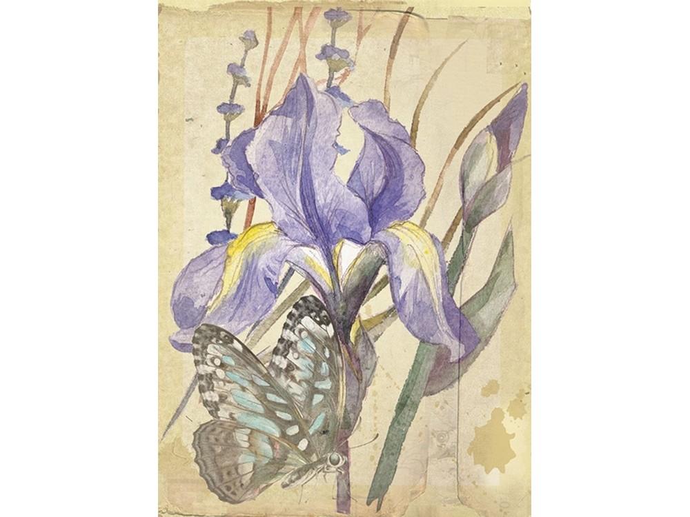 Набор для вышивания «Сиреневый нектар» (открытка)Смешанная техника<br><br>