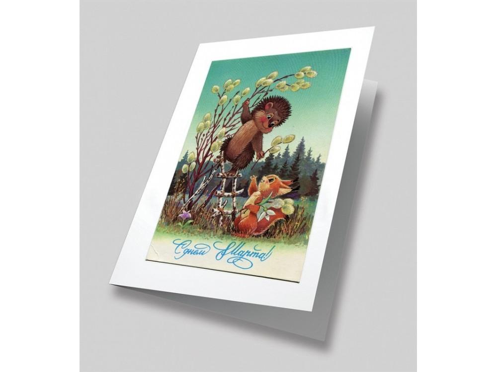 Набор для вышивания «Поздравление маме» (открытка)Вышивка смешанной техникой Матренин Посад<br><br>