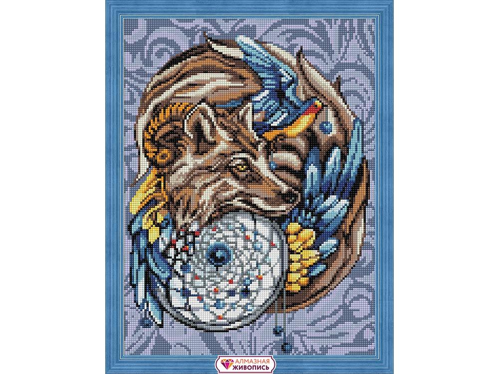 Алмазная вышивка «Волшебный амулет»Алмазная Живопись<br><br><br>Артикул: АЖ-1592<br>Основа: Холст без подрамника<br>Сложность: сложные<br>Размер: 30x40 см<br>Выкладка: Полная<br>Количество цветов: 25<br>Тип страз: Квадратные