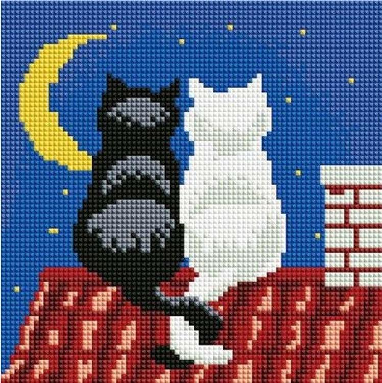 Алмазная вышивка «Влюбленные коты»Алмазная вышивка<br><br>