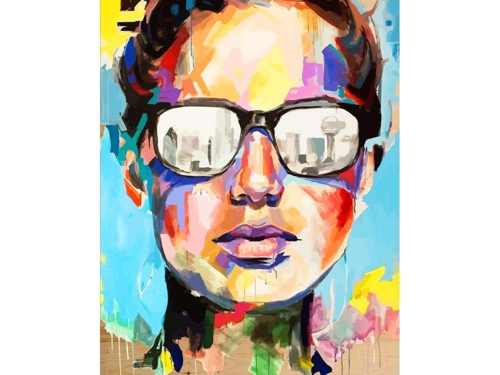 Картина по номерам по дереву Color KIT «Абстрактный портрет» Джулии ПаппасКартины по номерам по дереву<br><br>