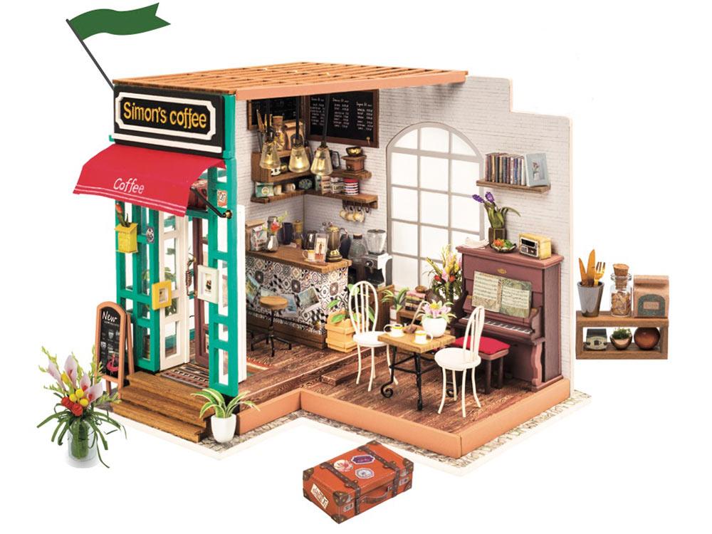 Набор для создания миниатюры (румбокс) «Любимая кофейня»Румбоксы<br>Румбокс — это набор-конструктор для создания кукольного интерьера в миниатюре. <br> С помощью ножниц и клея вы сможете собрать удивительно детализированный интерьер одной комнаты. Каждый элемент собирается из деревянных и бумажных составляющих. Изю...<br>