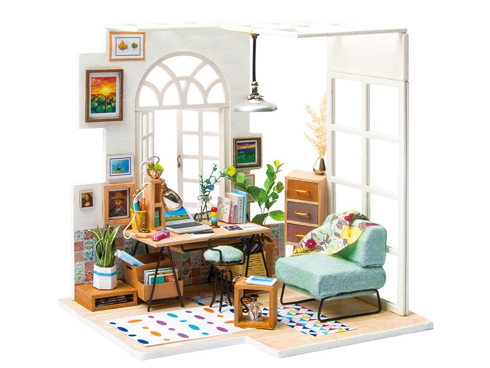 Набор для создания миниатюры (румбокс) «Домашний кабинет»Румбоксы<br>Румбокс — это набор-конструктор для создания кукольного интерьера в миниатюре. <br> С помощью ножниц и клея вы сможете собрать удивительно детализированный интерьер одной комнаты. Каждый элемент собирается из деревянных и бумажных составляющих. Изю...<br>