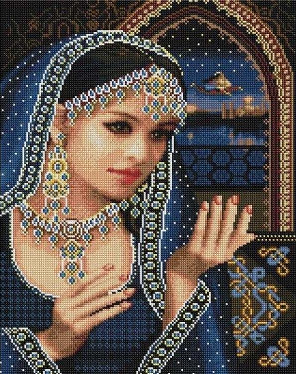 Алмазная вышивка «Шахерезада»Алмазная вышивка Painting Diamond<br><br><br>Артикул: GF1279<br>Основа: Холст на подрамнике<br>Сложность: сложные<br>Размер: 40x50 см<br>Выкладка: Полная<br>Количество цветов: 27<br>Тип страз: Квадратные