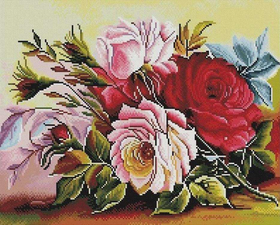 Алмазная вышивка «Розы» Дугласа ФраскеттиАлмазная вышивка Painting Diamond<br><br>