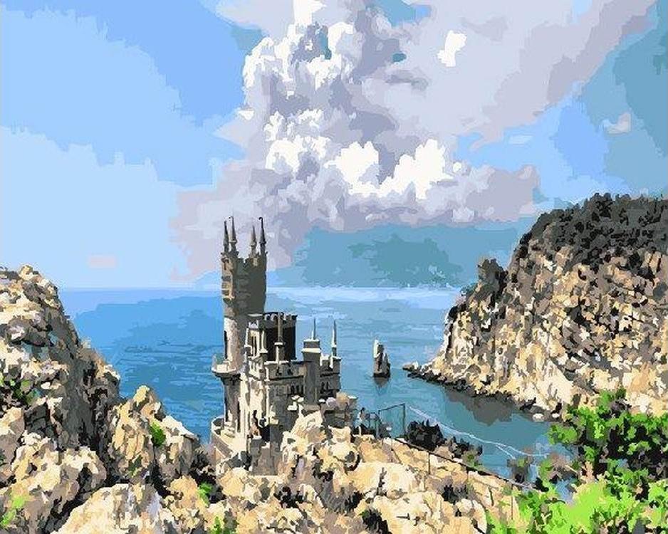 Картина по номерам «Ласточкино гнездо. Крым»Paintboy (Premium)<br><br>