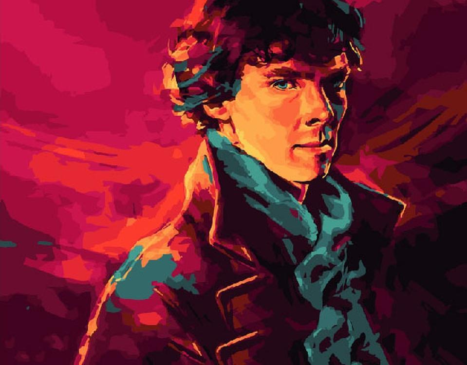 Картина по номерам «Шерлок Холмс»Paintboy (Premium)<br><br><br>Артикул: GX4966<br>Основа: Холст<br>Сложность: легкие<br>Размер: 40x50 см<br>Количество цветов: 19<br>Техника рисования: Без смешивания красок