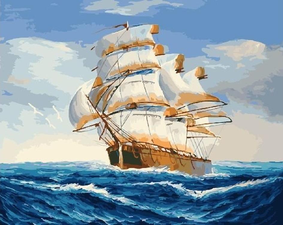 Картина по номерам «На всех парусах»Paintboy (Premium)<br><br>