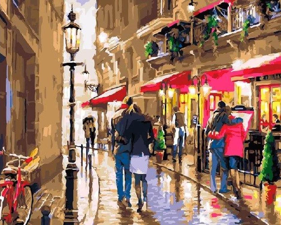 Картина по номерам «Улочка для влюбленных» Ричарда МакнейлаРаскраски по номерам<br><br>