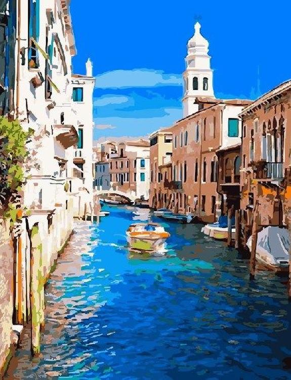 Картина по номерам «Летняя Венеция»Раскраски по номерам<br><br>