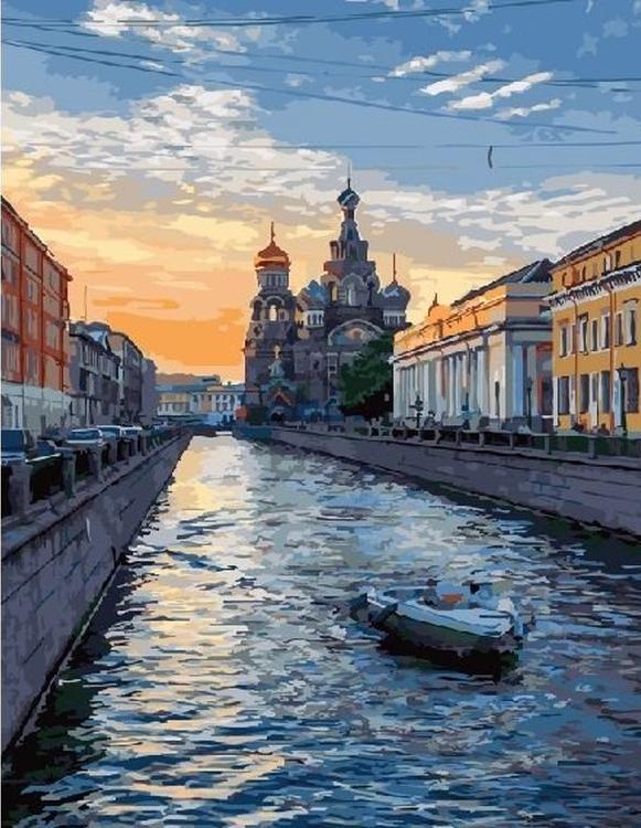Картина по номерам «Великолепный Санкт-Петербург»Paintboy (Premium)<br><br><br>Артикул: GX5816<br>Основа: Холст<br>Сложность: средние<br>Размер: 40x50 см<br>Количество цветов: 27<br>Техника рисования: Без смешивания красок