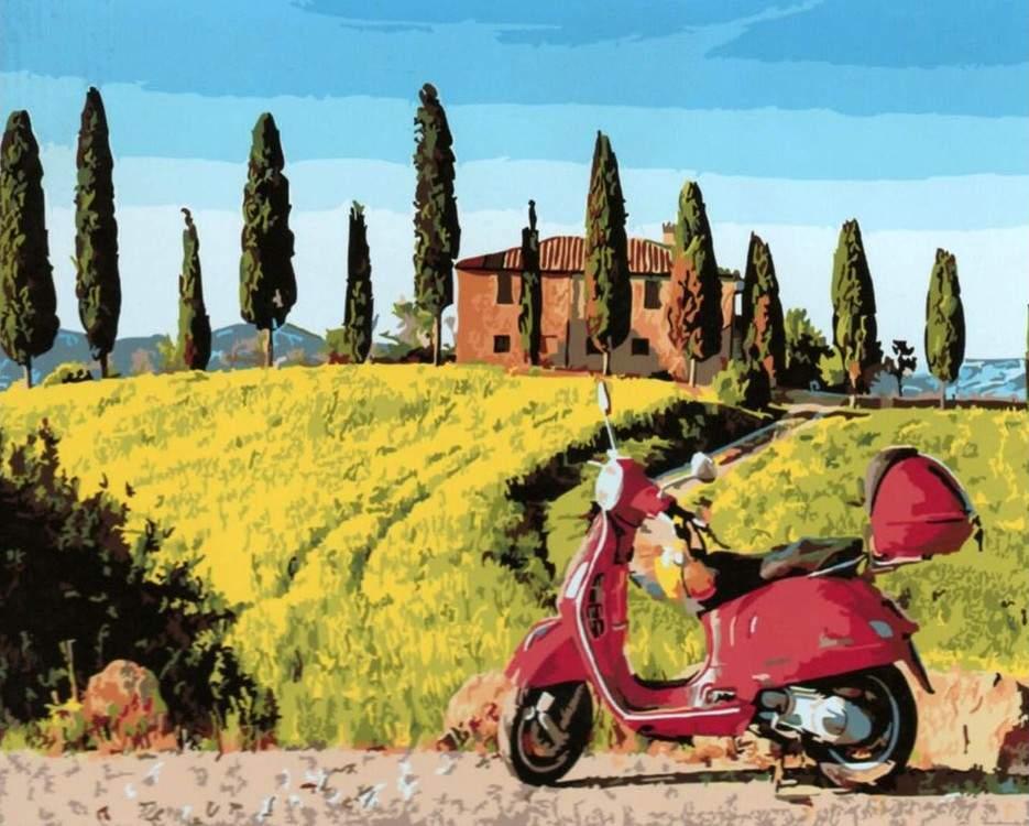 Картина по номерам «Скутер в Тоскане»Paintboy (Premium)<br><br>
